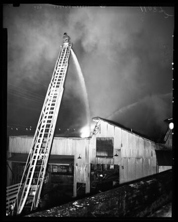 Fire at Superior Honey Company, 1954