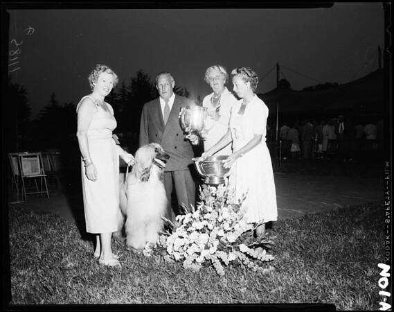 Dog show (26th Annual Show Santa Barbara Kennel Club), 1954