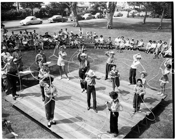 Rope Twirling Contest (Recreation Department) Exposition Park, 1954