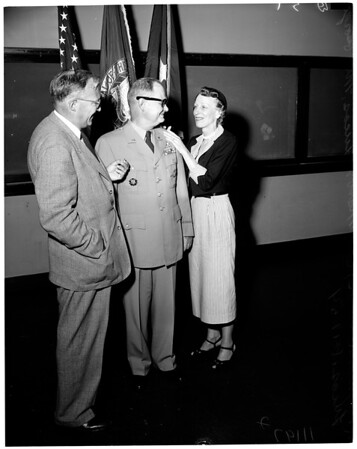 University of California, Los Angeles R.O.T.C Professor of Military Science and Tactics Promoted to Brigadier General, 1954