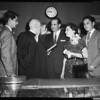 Pitchess being sworn in as Sheriff, 1958