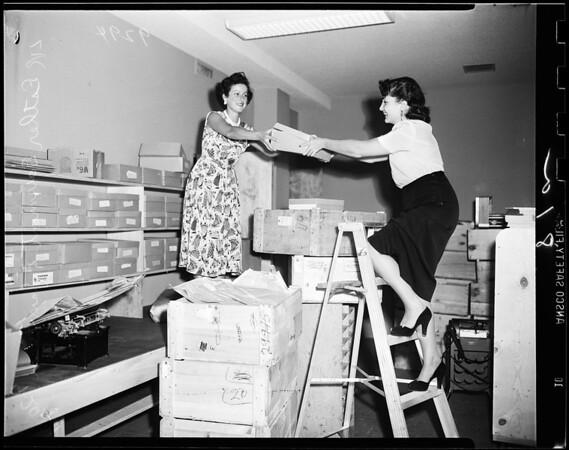 Moving day Jewish Federation, 1951