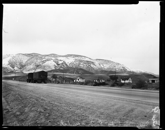 Snow on ridge route, 1959