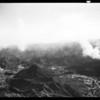 Aerial views of Malibu fire (Lind Flight Service), 1958