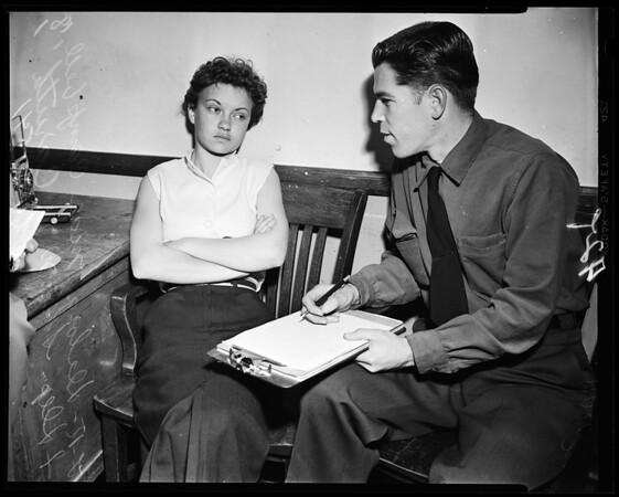 Run-away girl gives up, 1954