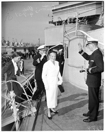 "Commissioning of the 'USS Cassin Young"", 1951"