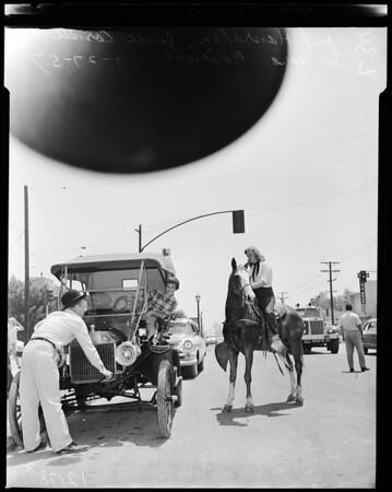 Northridge stamped (parade), 1957