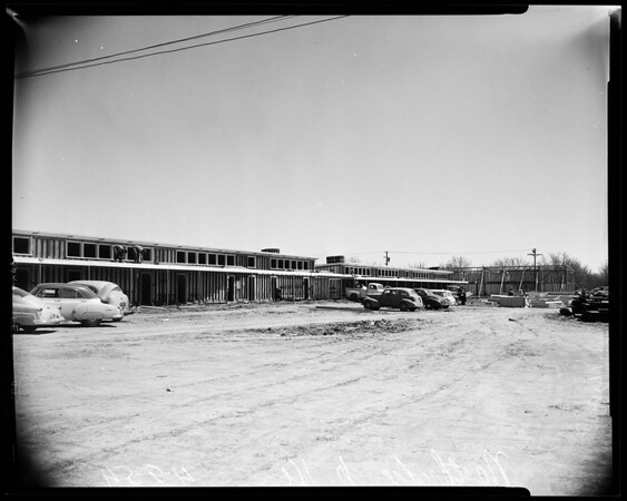 Northridge Junior High School under construction, 1954