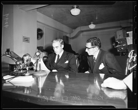 Un-American hearings (also candids), 1951