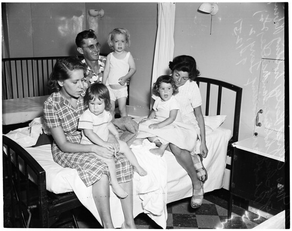 Stomach pumping, 1951