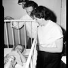 Heart massage operation saved her life during tonsil operation, 1954