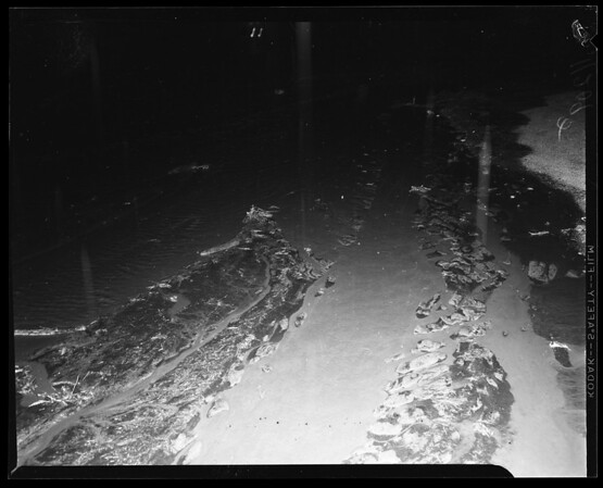 Flash floods in Palm Springs area, 1954