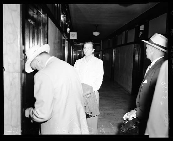 Bank robber suspect, 1952