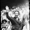 Florence Chadwick at Wrigley Field, 1952