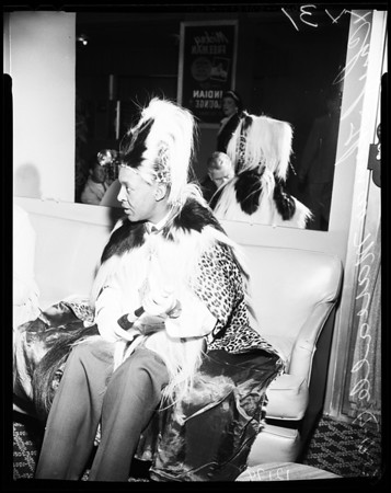 Chief of East Africa here on tour, 1957