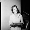 Mildred Younger at Federal Building, 1954