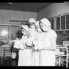 Triplets at Beverly Hills Community Hospital, 1952