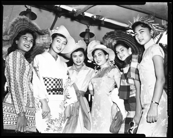 Oriental girls at Disneyland, 1958
