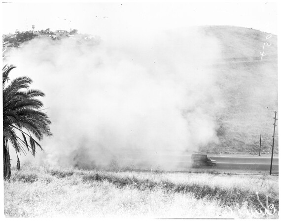 County fire demonstration, 1952