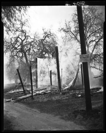 Malibu fire, 1958