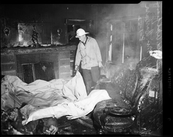 Fire at 4210 Palmero Boulevard, 1952