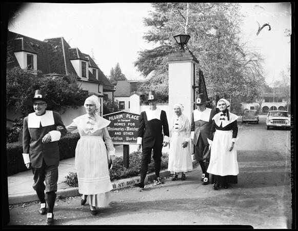 Claremont Thanksgiving (dressed as pilgrims), 1958