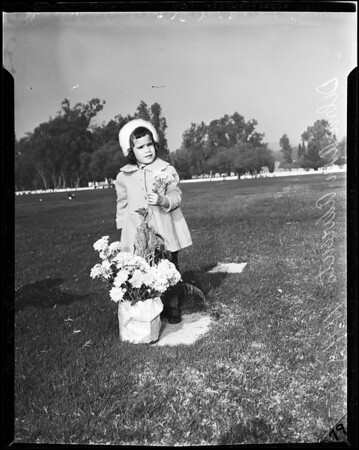 Veterans Day graveside (at graveside of father's boyhood chum), 1957