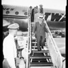 Mayor Bowron arrival at International Airport, 1952