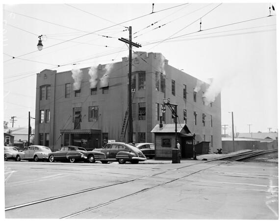 Schiffman Plant Fire (1734 North Main Street), 1954