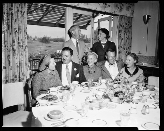 Carriage Club brunch brunch before USC-UCLA game, 1957