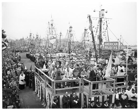 Fisherman's fiesta in San Pedro, 1951