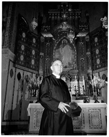 Reverend George Davidson (Episcopal Minister retires), 1951