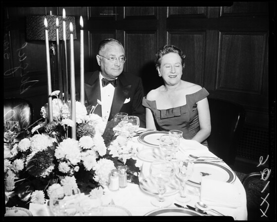 Pre-Concert Dinner -- Opening night, Philharmonic Orchestra, 1957
