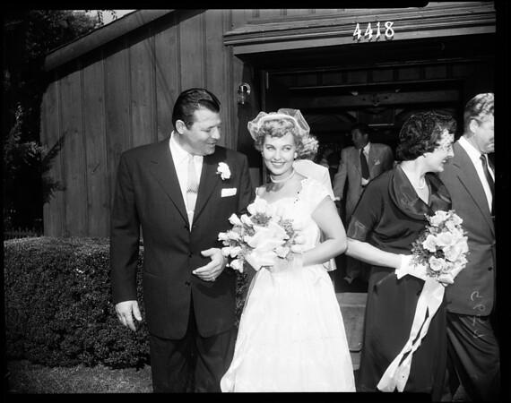 Carson--Albright wedding, 1952