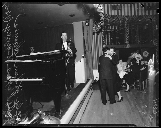 Aly Kahn and Gene Tierney at the Mocambo, 1954