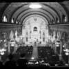 Churches: Catholic (Mass at St. Vibiana's), 1954