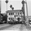 House blocks street (Doheny Drive south of Sunset Boulevard), 1952