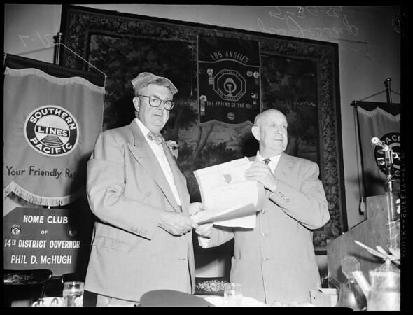 Honoring Oscar Smith, 1954
