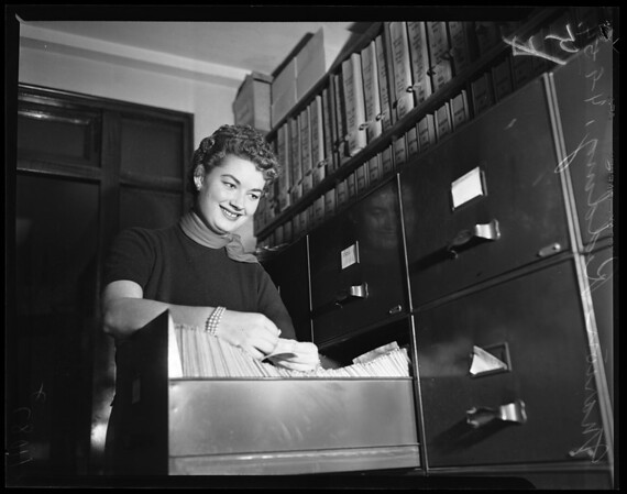 Marion Redding (daughter of Ned Redding, candidate for Congress in 26th District), 1954