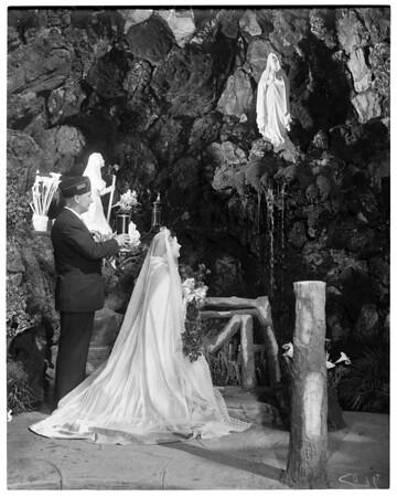 "Peace Pilgrimage to Shrine of ""Grotto of Lourdes"", Saint Elizabeth's Church, Altadena, 1952"