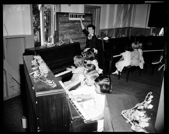 Child pianists, University of Southern California, all aged 6 years, 1952