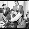 Baseball -- Dodgers contract signing, 1958.