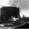 Hancock Oil fire clean up, 1958