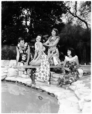 Blue Bonnets party... San Marino, 1958