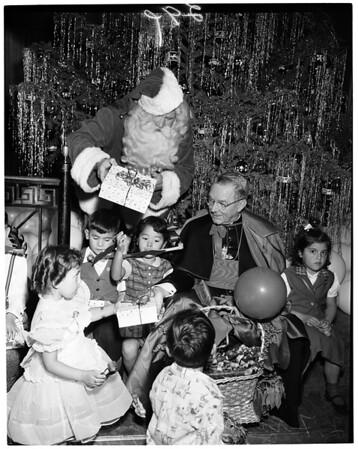 Cardinal with orphans (Christmas), 1953