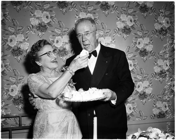 Shaffer golden wedding anniversary, 1958