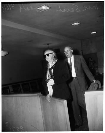 Sanitarium manager arraigned, 1953