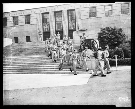 Marines leaving, 1954