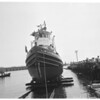 Tug boat launching (built for Air Force), 1953