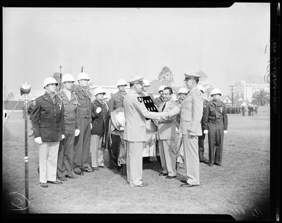 Schools: Loyola High School rifle marksmen win Hearst Awards, 1954